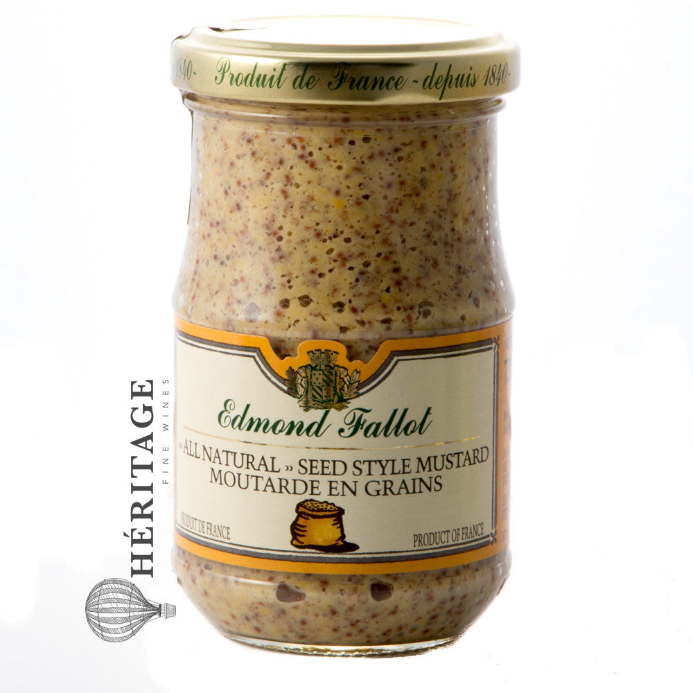Edmond Fallot - Old Fashion Whole Seeds Dijon Mustard - 205g / 7.2 oz - Buy Wine Beverly Hills