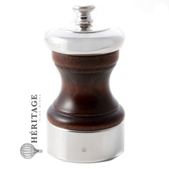 Peugeot Palace 4 Inch Silver Plated Pepper Mill, Antique Brown - Buy Wine Beverly Hills