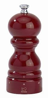 Peugeot Paris Classic 4.75 Inch Wooden Salt Mill, Red Lacquer