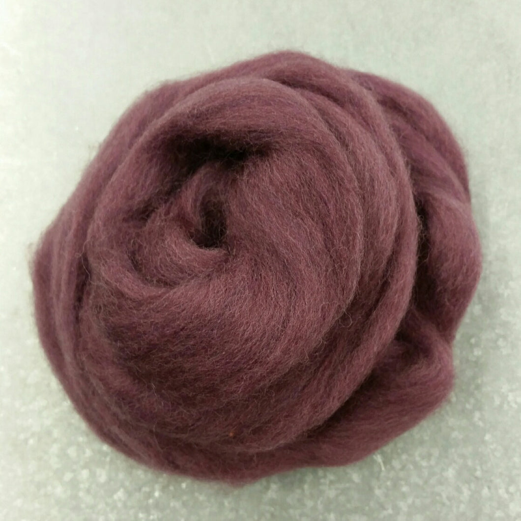 Grape Jelly CORRIEDALE Wool Roving - 1 oz - Nuno Felting / Wet Felting / Felting Supplies / Hand Felting / Needle Felting / Fiber Art