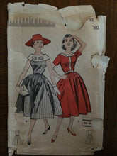 "Load image into Gallery viewer, 1950's Butterick Dress Pattern #8408.  Size 12, Bust 32"" - 1950s Butterick / 50s Butterick / 1950s Dress / Big Collar Dress / Women's Dress"