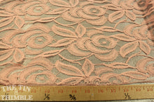Load image into Gallery viewer, Novelty Lace in Pink - 1 Yard - Cotton Nylon Blend / Lace by Yard / Garment Fabric / Lace Fabric / Pink Lace