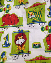 Load image into Gallery viewer, Darling 1960s Circus Animal Printed Vintage Fabric - 2/3 Yard -  100% Cotton