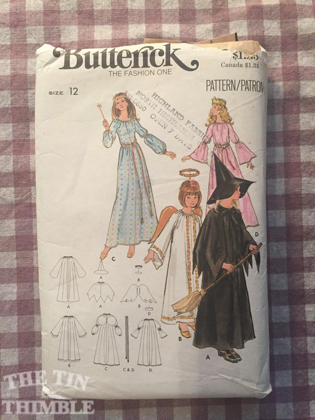 Vintage Costume Pattern / Witch Costume / Princess Costume / Angel Costume / Butterick 4938 / Size 12 Bust 30 - Halloween Costume