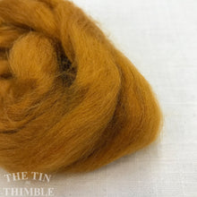 Load image into Gallery viewer, Hand Dyed Tussah Silk Fiber for Spinning, Weaving or Felting in Gold / 3 Grams / Yellow Tussah Silk