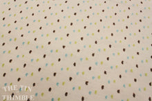 Load image into Gallery viewer, Cotton Swiss Dot Fabric by the Yard / Dotted Swiss Fabric / Clip Dot Fabric  -1 Yard  / Aqua Green Brown / Apparel Fabric - ALMOST GONE!