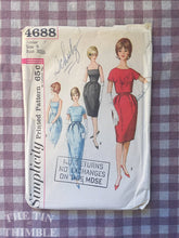 Load image into Gallery viewer, Vintage Sewing Pattern for Women / 1960s Dress Pattern / Simplicity 4688 / Bust 30.5 - Dress and Jacket / Cocktail Dress / Formal Dress