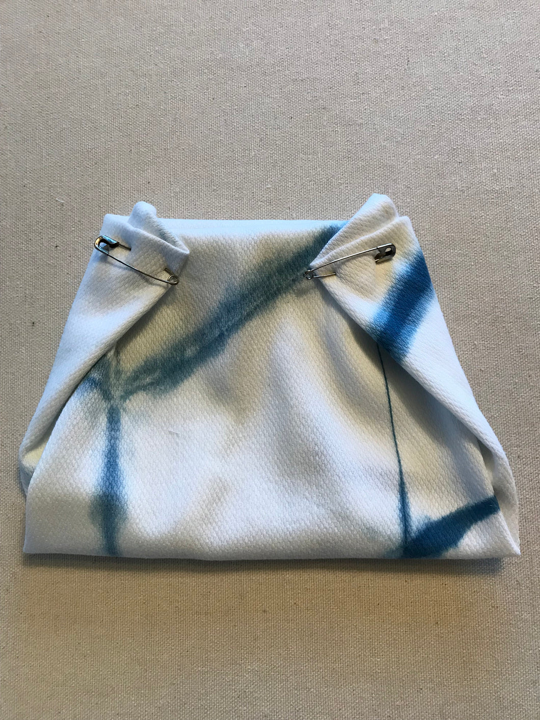Hand Made Shibori & Indigo Dyed Cloth Diaper / 100% Cotton / Made in USA / Small batch Diaper Cover