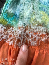 "Load image into Gallery viewer, Tubular Yarn #8 / Felting Fiber / Cool Fiber - 18"" - Nuno Felting / Wet Felting / Felting Supplies / Textural Fiber / Felting Yarn"