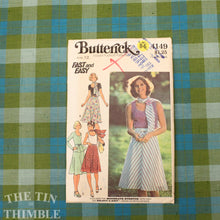 Load image into Gallery viewer, 1970's Skirt Pattern / Vintage Sewing Pattern for Women / A Line Skirt / Butterick 4149 / Size 12 / Stretch Top Pattern / QUICK LIST