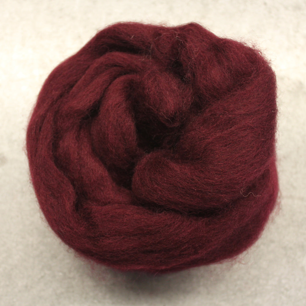 Aubergine CORRIEDALE Wool Roving - 1 oz - Nuno Felting / Wet Felting / Felting Supplies / Hand Felting / Needle Felting / Fiber Art