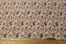 Load image into Gallery viewer, Rayon Challis - 1 Yard - Rayon Fabric / Purple Rayon Floral / Floral Printed Rayon / Rayon by Yard / Floral Rayon / Purple Blue Rayon