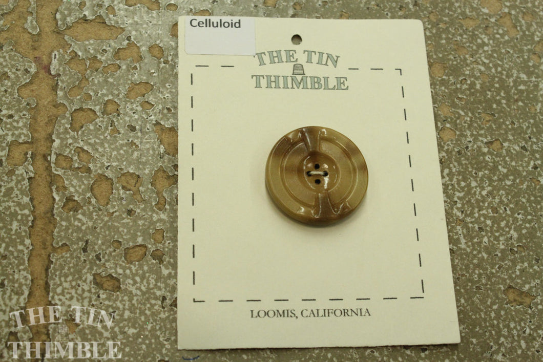 Celluloid Button #41 / Vintage Celluloid / 1930s Buttons / 1940s Buttons / Antique Buttons / Vintage Sewing Notions / Celluloid Buttons