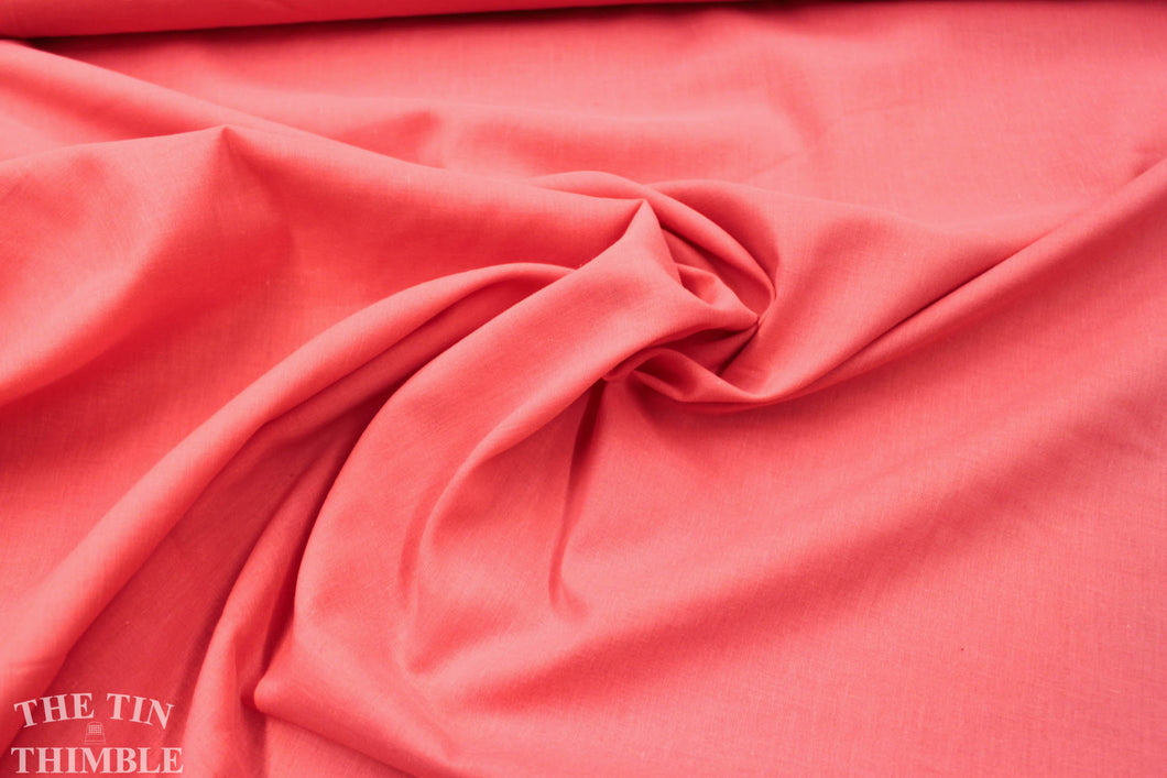 Cotton Lawn Fabric /Bubble Gum Pink Lawn / 1 Yard / Cotton Fabric / Fabric by Yard / Pink Lawn / Bright Pink Solid / Solid Pink Cotton