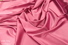 Load image into Gallery viewer, Silk Charmeuse Spandex Blend / Silk Charmeuse / Pink Silk / 1 Yard / 100% Silk / Fuchsia / Silk Spandex / Stretchy Silk /