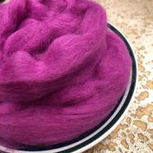 Load image into Gallery viewer, Magenta Pink Merino Wool Roving for Felting, Spinning or Weaving - 21.5 micron - 1 oz