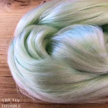Load image into Gallery viewer, Cultivated Bombyx (Mulberry) Silk Fiber for Spinning or Felting in Lily of the Valley - 3.5 Grams or More
