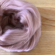 Load image into Gallery viewer, Cultivated Bombyx (Mulberry) Silk Fiber for Spinning or Felting in Shell Pink - 3.5 Grams or More