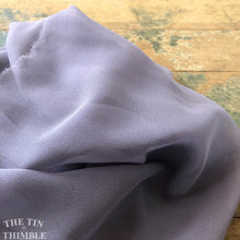 "Load image into Gallery viewer, Pure Silk Chiffon Scarf with Unfinished Edges / Great for Nuno Felting / Approx. 14"" x 90"" / Matte Lavender"