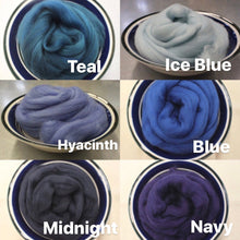 Load image into Gallery viewer, Hyacinth Merino Wool Roving - 1 oz - Spinning / Wet Felting / Felting Supplies / Hand Felting / Needle Felting / Fiber