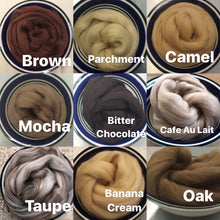 Load image into Gallery viewer, Taupe Merino Wool Roving - 1 oz - Nuno Felting / Wet Felting / Felting Supplies / Hand Felting / Needle Felting / Fiber Supply / Fiber