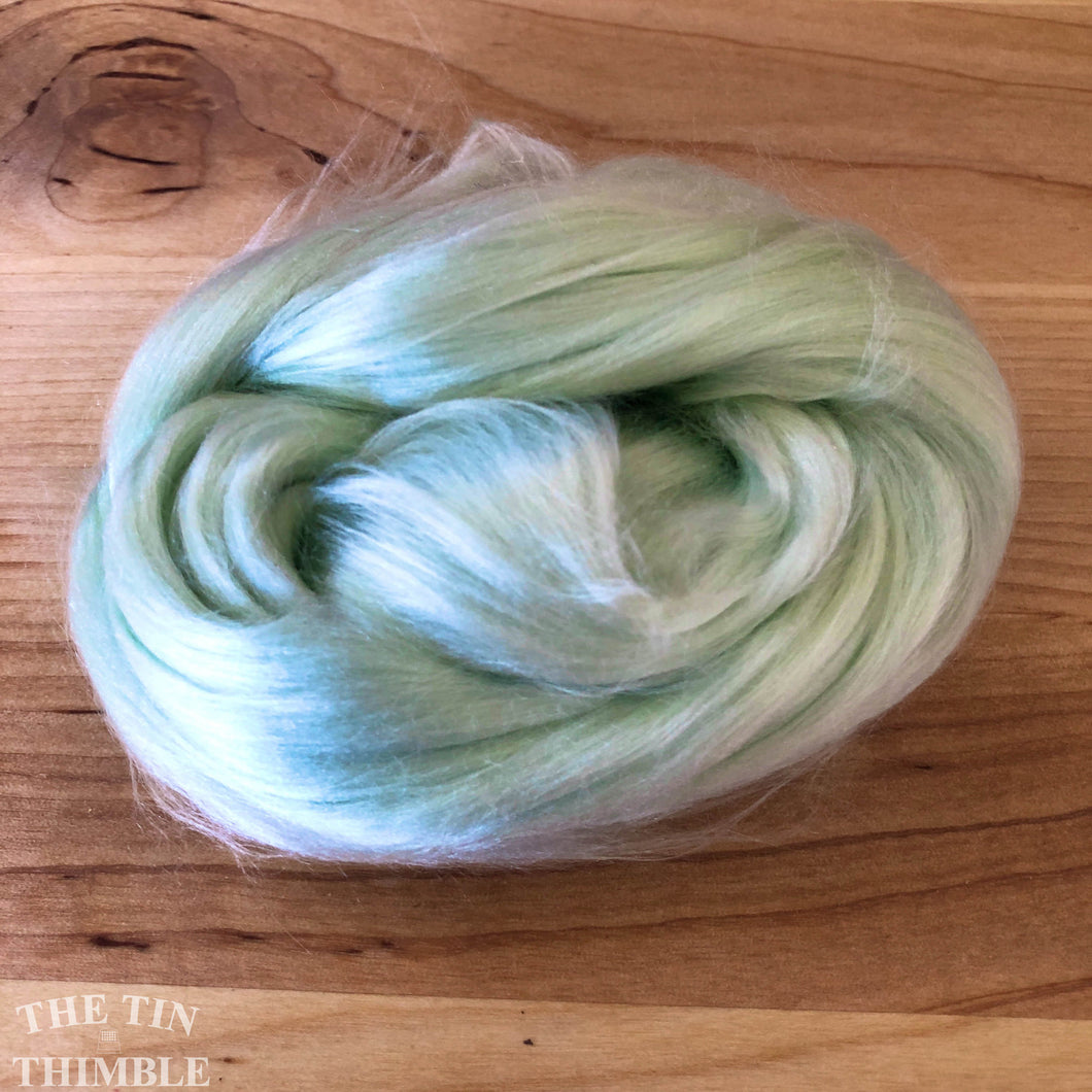 Cultivated Bombyx (Mulberry) Silk Fiber for Spinning or Felting in Lily of the Valley - 3.5 Grams or More