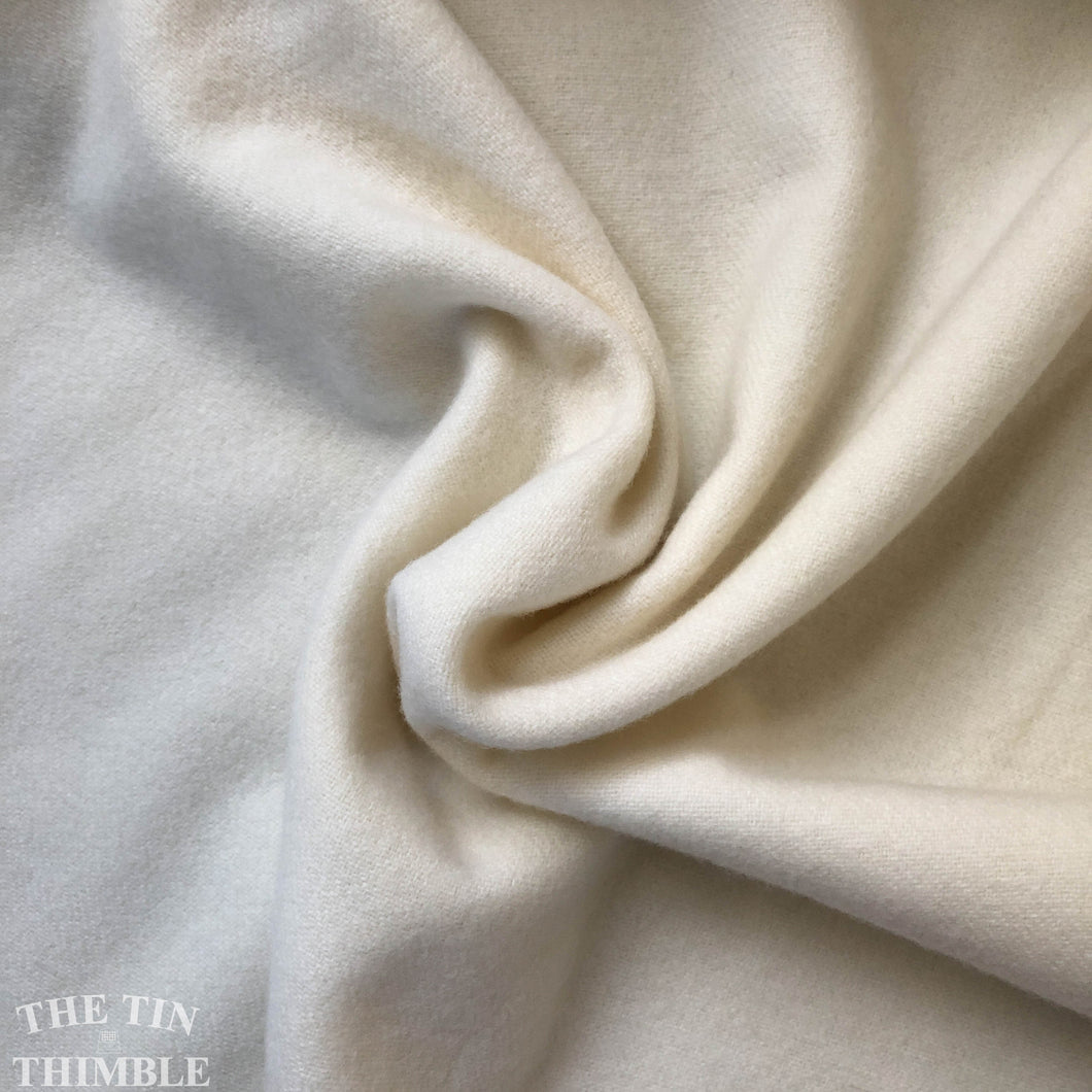 100% Wool Flannel Weight Fabric in Natural White - 1 Yard - Made in America - Great for Eco Printing, Eco Dyeing, Quilting and Sewing