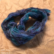 "Load image into Gallery viewer, Tubular Yarn #19 / Felting Fiber / Cool Fiber - 18"" - Nuno Felting / Wet Felting / Felting Supplies / Textural Fiber / Felting Yarn"