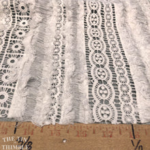 Load image into Gallery viewer, Crocheted Lace - 1 Yard - Cotton Textural Lace in Off White