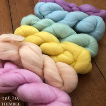 Load image into Gallery viewer, Merino Wool Roving Pack - The Pastels - Six Colors, 1 Ounce Each - High Quality Merino Wool for Felting, Weaving and Spinning