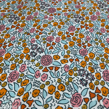 "Load image into Gallery viewer, Certified Organic Cotton - Good Vibrations by Elizabeth Olwen in ""Flowerfield"" - 1 Yard"