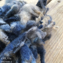 Load image into Gallery viewer, Hand Dyed Mystery Wool Fiber for Needle Felting, Wet Felting, Weaving and Crafts - Blue Gray - 1 Ounce