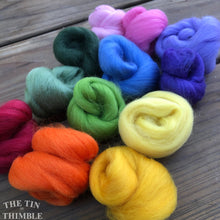 Load image into Gallery viewer, Mixed Wool Roving Pack - 1.5 oz Total - Bouquet - Small Quantities for Felting and Crafts