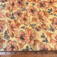 Load image into Gallery viewer, Vintage Floral Printed Flannel - 100% Cotton - Sold by the Yard