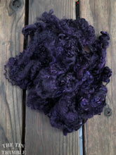 Load image into Gallery viewer, Mohair Locks for Felting, Spinning or Weaving - 1/4 Oz - Hand Dyed in the Color 'Deep Purple'