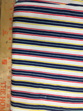 Load image into Gallery viewer, Stripe Fabric / Cotton Fabric / Extra Wide Cotton - 2 3/8 Yards - Multicolor Stripe / Blue Stripe / Extra Wide Fabric / Quilting Fabric