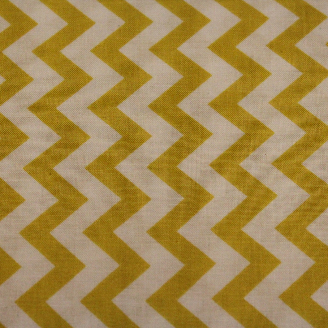 Chevron Fabric / Yellow and White / Quilting Treasures -1 Yard- Cotton Fabric / Quilting Fabric / Quilting Cotton / Zig Zag Fabric