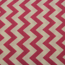 Load image into Gallery viewer, Pink and White Chevron Fabric / Quilting Treasures / Cotton Fabric -7/8 Yard- Chevron Stripe / Bright Pink / Cotton Chevron / LAST PIECE!