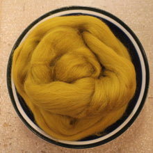 Load image into Gallery viewer, Dijon Gold Merino Wool Roving - 21.5 micron -1 oz - For Nuno Felting, Wet Felting, Weaving, Spinning and More