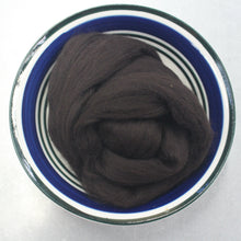 Load image into Gallery viewer, Bitter Chocolate Brown Merino Wool Roving / 21.5 micron -1 oz- Nuno Felting / Wet Felting / Felting Supplies / Needle Felting / Fiber Supply