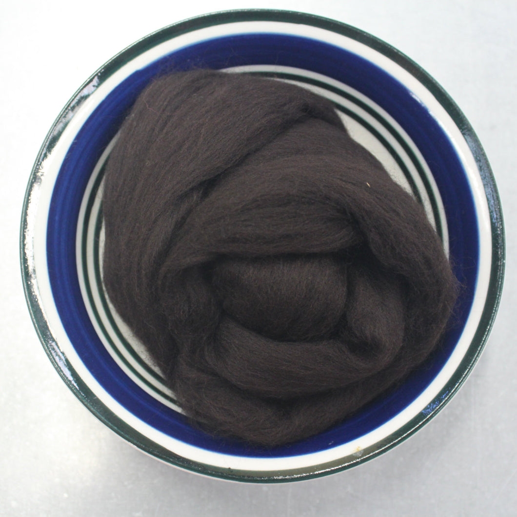 Bitter Chocolate Brown Merino Wool Roving / 21.5 micron -1 oz- Nuno Felting / Wet Felting / Felting Supplies / Needle Felting / Fiber Supply