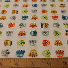 Load image into Gallery viewer, Owl Fabric / Organic Cotton Fabric / Ed Emberley / Happy Drawing / Cloud 9 -1 Yard- Organic by Yard / Bird Fabric / Owls / Childrens Fabric