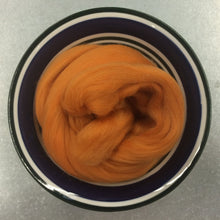 Load image into Gallery viewer, Tangerine Merino Wool Roving - 21.5 micron -1 oz - For Nuno Felting, Wet Felting, Weaving, Spinning and More