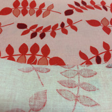 Load image into Gallery viewer, Jenaveve / Leaves / Raspberry / Valori Wells / Free Spirit Fabrics -1Yard- Linen Cotton Fabric / Leaf Fabric / Linen Fabric / Pink Red Linen