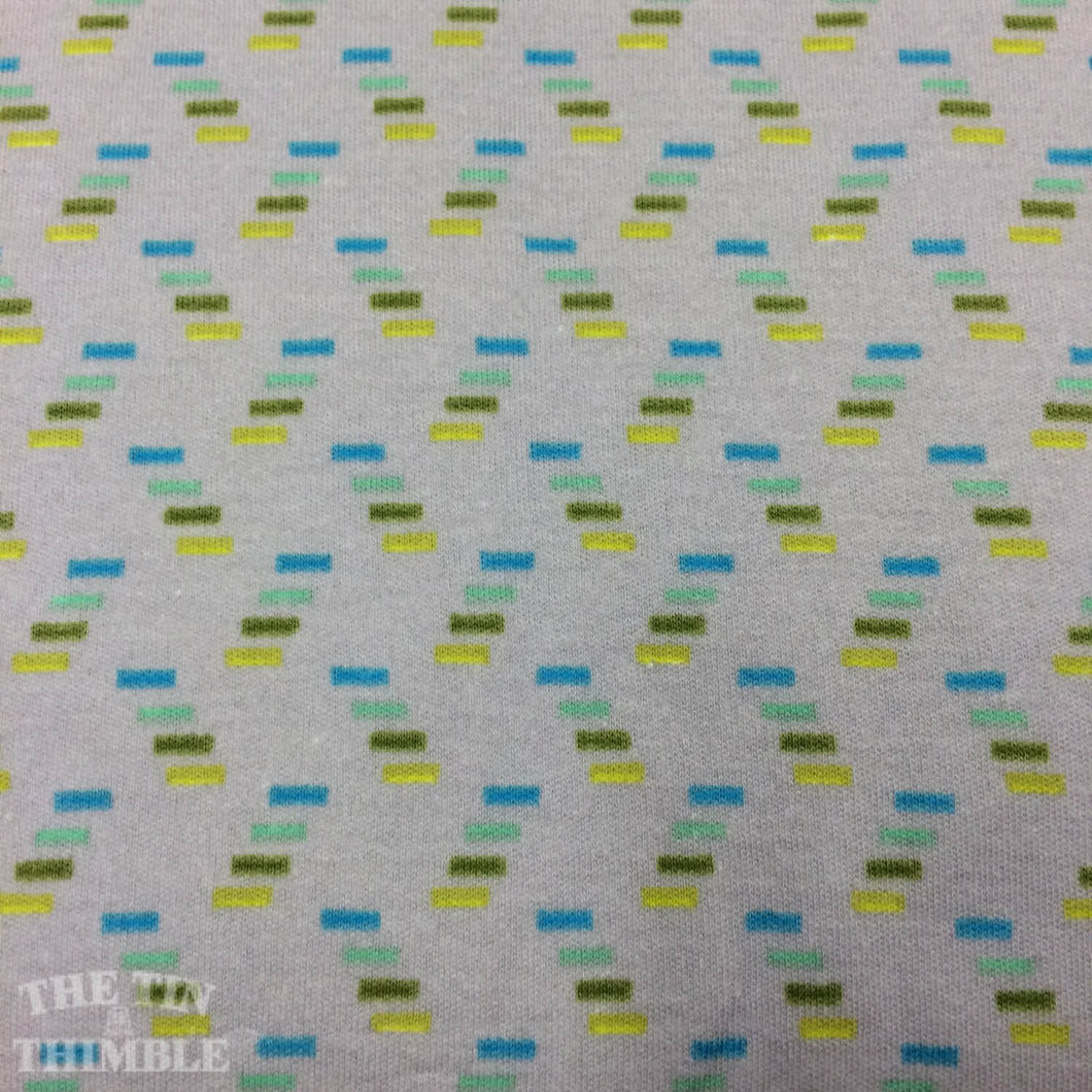 Pretty Potent Knit / Interlock Knit Fabric / Cracking Codes / Anna Maria Horner Knit -1 Yard- Cotton Knit / Fabric by Yard / Grey Knit