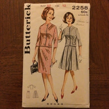Load image into Gallery viewer, 1960s Butterick Skirt and Jacket Pattern 2258 Sz 12 Bust 32 - 1960s Butterick / 60s Butterick / 19  / Butterick Pattern