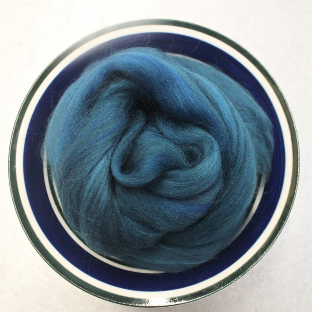 Teal Merino Wool Roving - 1 oz - Roving for Nuno, Wet and Needle Felting or Weaving