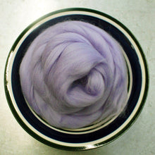 Load image into Gallery viewer, Iris Purple Merino Wool Roving - 21.5 micron -1 oz - For Nuno Felting, Wet Felting, Weaving, Spinning and More