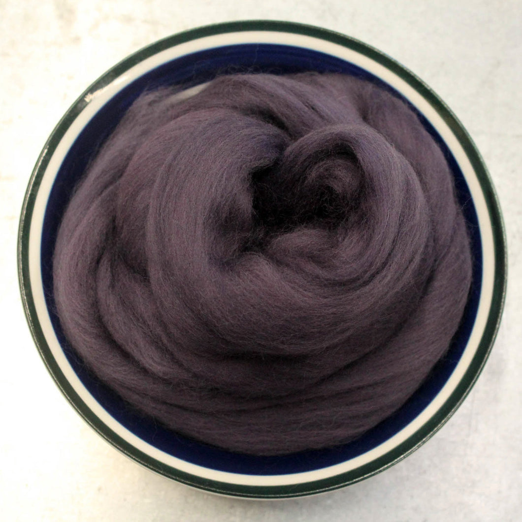 Plum Merino Wool Roving - 1 oz - Nuno Felting / Wet Felting / Felting Supplies / Hand Felting / Needle Felting / Fiber Supply