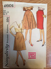 Load image into Gallery viewer, 1950s Simplicity Skirt Pattern 4601 Waist 24 Hip 32 - Vintage Simplicity / 50s Simplicity /